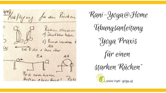 Yoga Praxis für einen starken Rücken