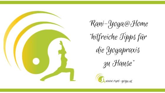 Tipps für die Yogapraxis zu Hause