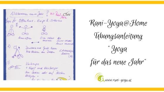 Yoga@home Übungsanleitung – Yoga für das neue Jahr