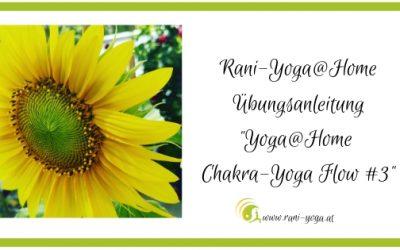 Yoga@home Übungsanleitung – Chakra-Yoga Flow (3)