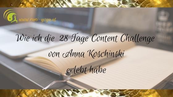 Meine 28 Tage Content Callenge – ein Erfahrungsbericht