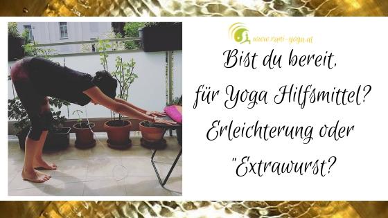 Bist du bereit für Yoga-Hilfsmittel?