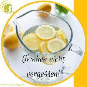Zitronen Wasser Trinken Sommer Ayurveda