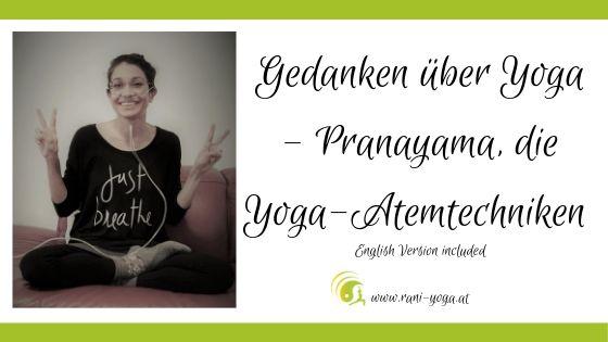 Gedanken über Yoga - Pranayma - just breath