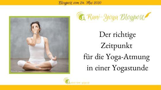 Atemübungen in Yogastunde