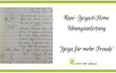 Yoga@Home – Yoga für mehr Freude