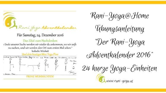 Der vollständige Rani-Yoga Adventkalender