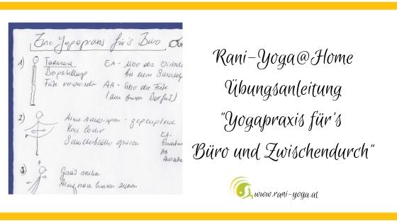 Yogapraxis für's Büro und Zwischendurch