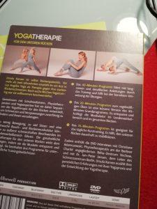 Rückseite der zweiten DVD aus der DVD-Box Reihe Yogatherapie mit Ursula Karven