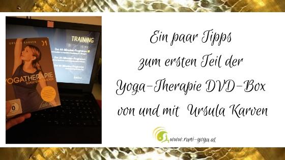 Meine Experten-Tipps zum Üben mit der Yogatherapie-DVD-Box mit Ursula Karven